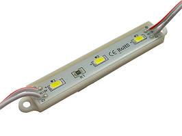 LED модуль SMD5730 1,4W 3Led 12V (в силиконе) Белый Теплый BIOM