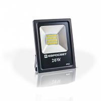 Светодиодный прожектор EVRO LIGHT 20Вт  ES-20-01 6400K 1100Lm SMD эко