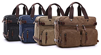 """Сумка через плече рюкзак портфель """"Трансформер"""" цвет песок, фото 1"""