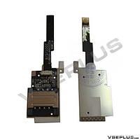 Шлейф HTC P4550 TyTN 2, с разъемом на карту памяти, с разъемом на sim карту