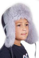 Зимняя шапка детская натуральный мех синтепон