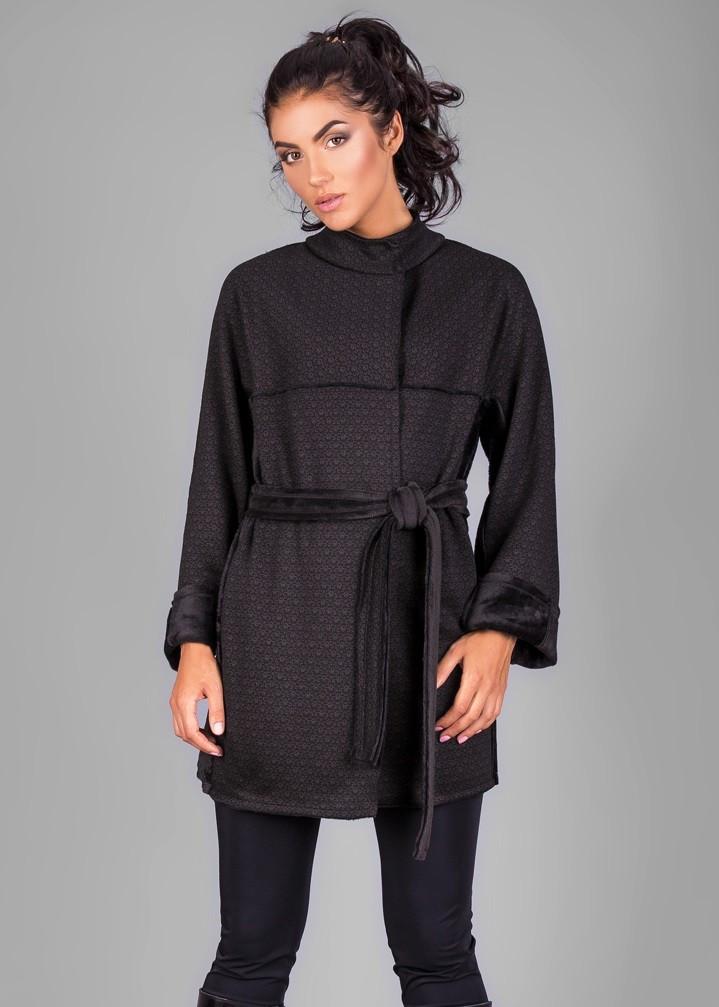 c9e352494084 Кардиган-пальто из из высококачественного теплого трикотажа на меховой  основе - Оптово-розничный магазин