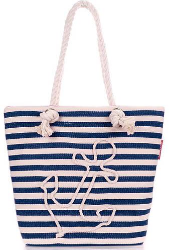 Женская синяя сумка с морским мотивом POOLPARTY anchor-blue