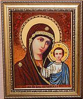 Икона из янтаря Казанская икона Божией Матери