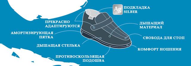 Характеристики диабетической обуви DrOrto (Доктор Орто)