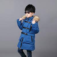 Детская курточка парка на мальчика пряжки