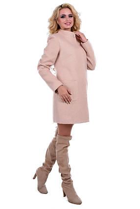 Женское бежевое демисезонное пальто арт. Мелини 0442 - 6784, фото 2