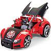 MAISTO TECH Автомодель-трансформер на р/у Street Troopers Project 66 черно - красный (81107)