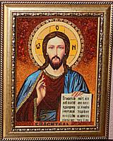 Картины и иконы из янтаря. Икона из янтаря Господь Вседержитель