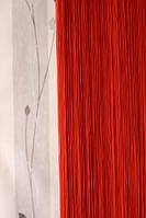 Ниточная штора кисея красная  (17)
