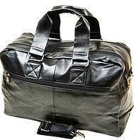 Дорожная сумка Dr.Bond 89-23 на два отдела черная из кожвинила