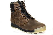 Зимние подростковые зимние ботинки для мальчика из натуральной кожи.