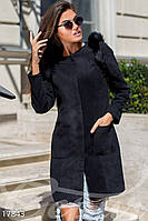 Пальто с секретом. Цвет черный.
