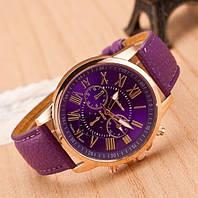 Женские часы наручные фиолетовые Geneva