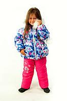 Зимний полукомбинезон на меху для девочки Одуванчик, розовый