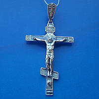 Серебряный крестик с объемным распятием, 10 грамм