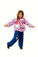Зимний полукомбинезон на меху для девочки Одуванчик, голубой