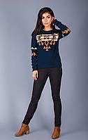 Теплый свитер из полушерстяной пряжи с модным кельтским орнаментом