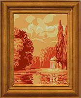 """Схема для вышивания бисером на атласе """"Пейзаж цвета солнца"""" ЕА-025"""