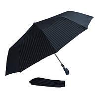 Зонт черный в полоску 302P-06