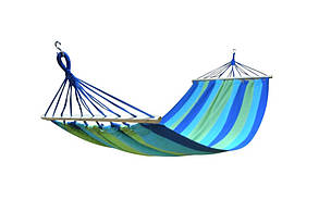 Гамак-ткань SJ-A19\  0,8*2м (гобелен, сине-зеленый ,150кг)