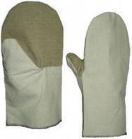 Рабочие рукавицы комбинированные брезент и двунитка