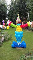 Клоун из воздушных шаров на детский праздник