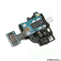 Шлейф Samsung I9500 Galaxy S4, с вибро, с разъемом на наушники