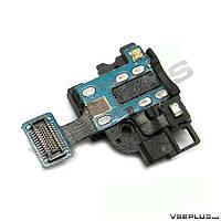 Шлейф Samsung I9500 Galaxy S4, с разъемом на наушники, с вибро