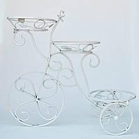 Подставка для цветов кованая Велосипед маленький G-012