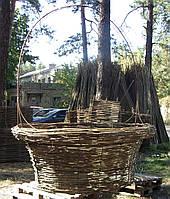 Корзина декоративная плетеная - лещина