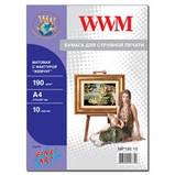 """Фотобумага WWM матовая """"Жемчужина"""" 190г/м кв , A4 , 10л (MP190.10), фото 2"""