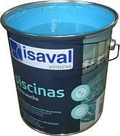 Краска для бассейнов и резервуаров хлоркаучуковая голубая 4л - до 32м2, фото 1