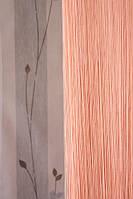 Ниточные шторы однотонные персик  (209)
