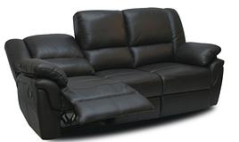 М'який шкіряний диван тримісний з реклайнером - ALABAMA