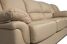Мягкий трехместный кожаный диван с реклайнером - ALABAMA, фото 2