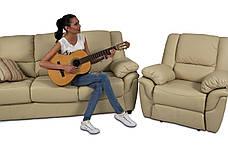 Мягкий трехместный кожаный диван с реклайнером - ALABAMA, фото 3