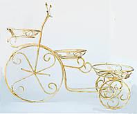Подставка для цветов кованая Велосипед средний G-014