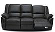 Мягкий трехместный кожаный диван с реклайнером - ALABAMA, фото 6