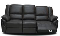 Мягкий трехместный кожаный диван с реклайнером - ALABAMA (4 цвета в наличии)