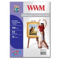 """Фотобумага WWM матовая """"Ткань"""" 190г/м кв , A4 , 10л (MC190.10)"""