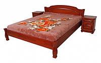 """Кровать """"Лагуна-2"""" из массива ольхи (Темп)"""