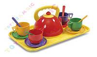Набор  посуды с чайник + поднос 14 ел