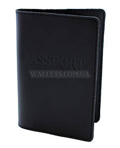 Кожаная обложка для паспорта ST, черная