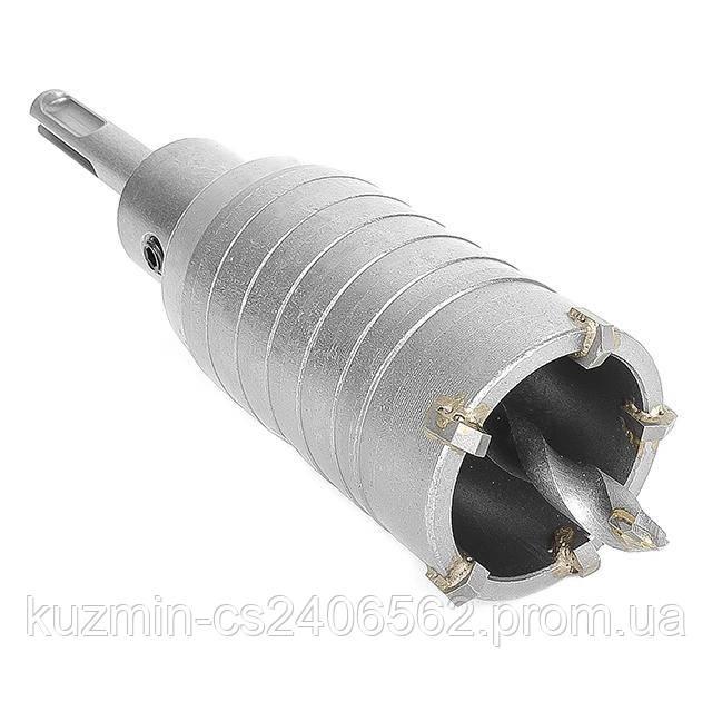 Комплект: сверло корончатое по бетону 40 мм + Переходник SDS Plus 100 мм INTERTOOL SD-7040