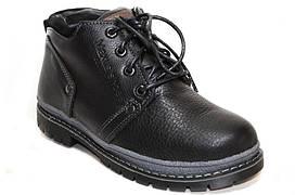 Зимние подростковые ботинки для мальчика из натуральной кожи.