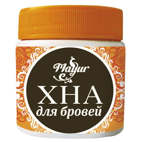 "Хна для бровей  Темно-коричневая от ""ТМ Mayur"", 20г"