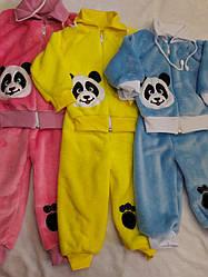 """Детский махровый костюм для мальчиков и девочек """"Панда"""""""