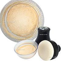 Мерцающая пудра для тела Beauties Factory Smooth Glitter Body Powder with Puff (Nude)