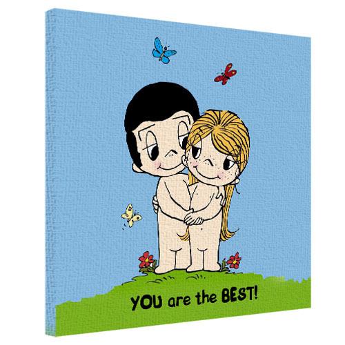 Картина на холсте You are the best! 50x50 см 50х50 см (H5050_LV062)